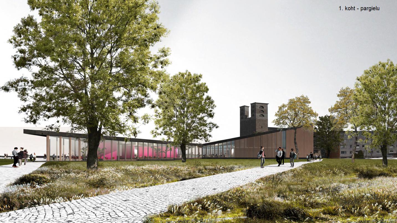 Rakvere riigigümnaasiumi arhitektuurikonkursi ideekavand