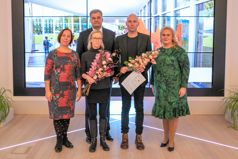 Vasakult: Mailis Reps, Maarja Kask, Mihkel Juhkami, Ralf Lõoke, Triin Varek