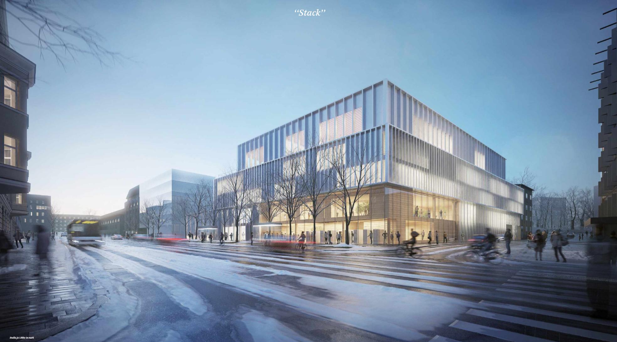 Tõnismäe riigigümnaasiumi arhitektuurivõistluse võitis Arhitekt11/Lunden Architecture