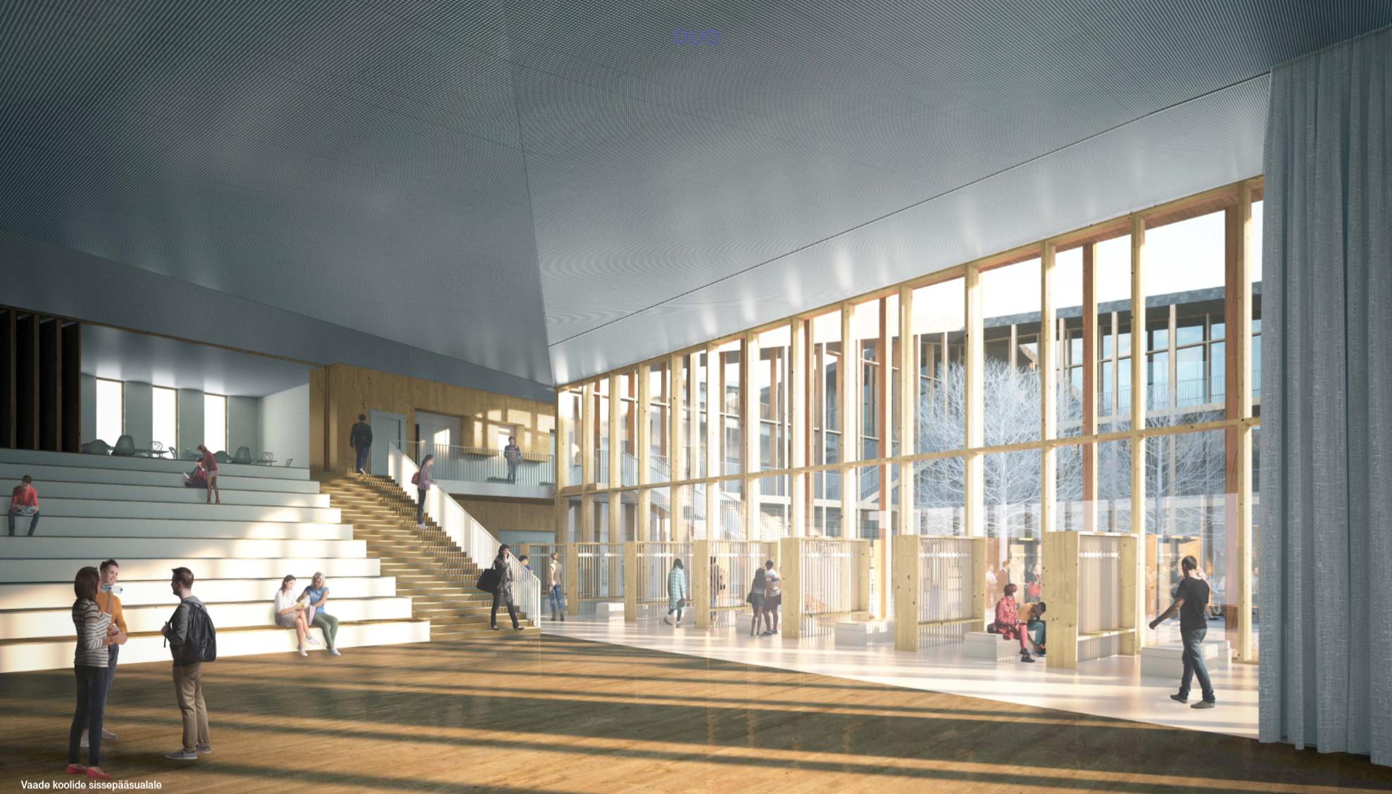 Narva õppekompleksi arhitektuurivõistluse võitis Kolm Pluss Üks arhitektid