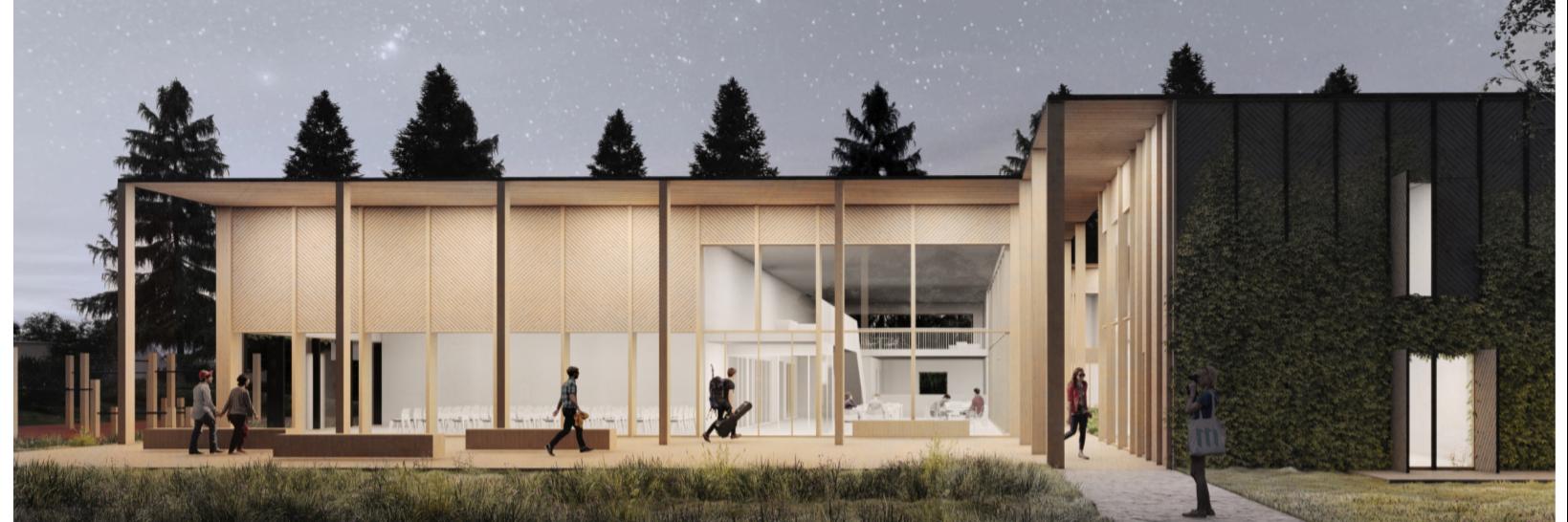 Mõdriku üliõpilaselamu-õppehoone arhitektuurivõistluse võitis arhitektuuribüroo Molumba